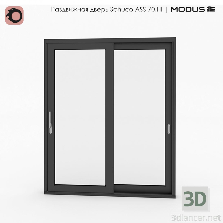 3d model Puerta corrediza - vista previa