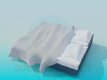 3d модель Кровать без былец – превью