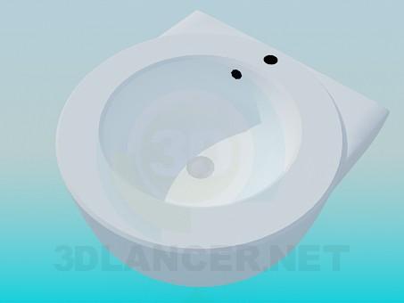 3d модель Масивний круглий умивальник – превью