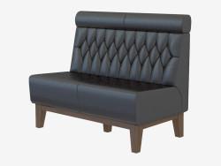 Sofá de cuero moderno Suzi Settee
