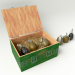 3d A set of grenades in the box model buy - render