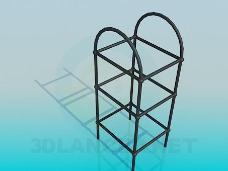 Modelo 3d Suporte para vasos de flores - preview
