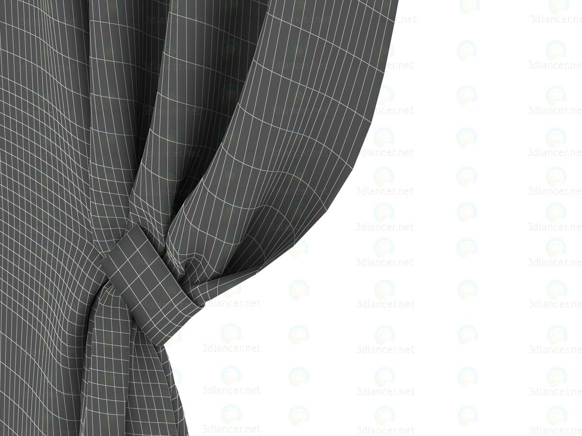 3d Шторы шелковые с магнитным держателем модель купить - ракурс