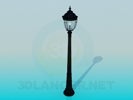 3d model Lantern in park - preview
