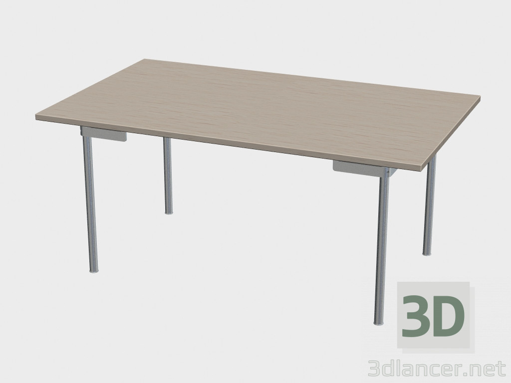 3d model dining table ch322 manufacturer carl hansen id for Dining table models
