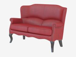 Sofá cuero moderno Topacio Doble