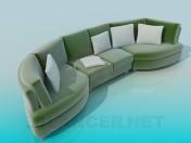 Semicircular sofa
