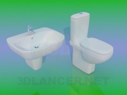 Toilet with washbasin