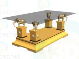 3d модель красивий столик – превью