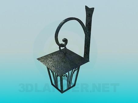 3d модель Фонарь настенный – превью