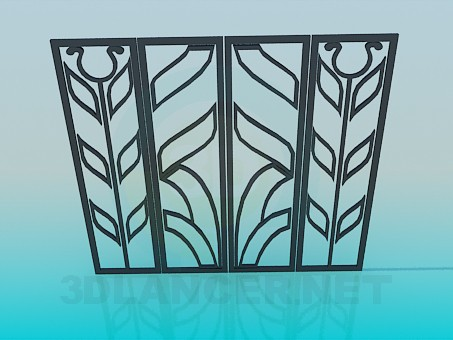 3d model Metal gate - preview