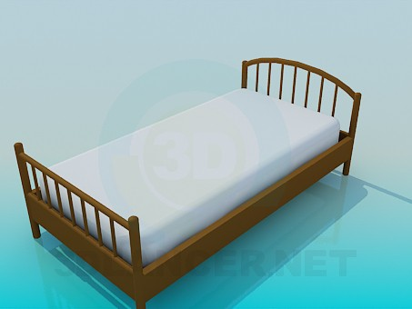 3d model Single bed - preview