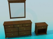 dressing table and cabinet