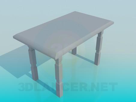 3d модель деревянный стол – превью
