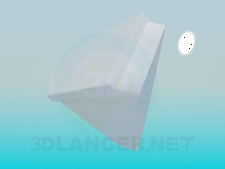 3d model Urinal with a lid - preview