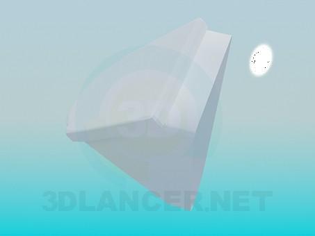 modelo 3D Orinal con tapa - escuchar