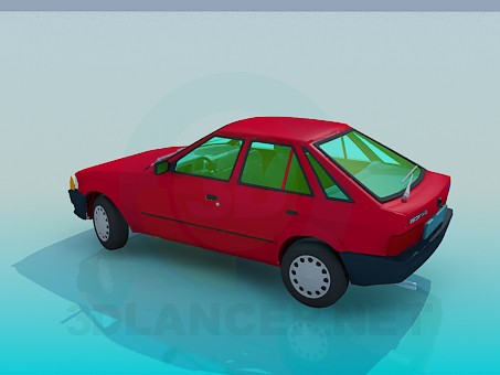 3d модель Ford Escort – превью
