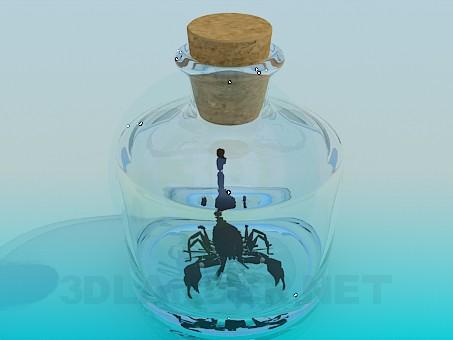 3d модель Скорпион в банке – превью