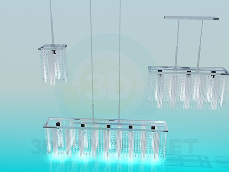 3d модель Набор освещения – превью