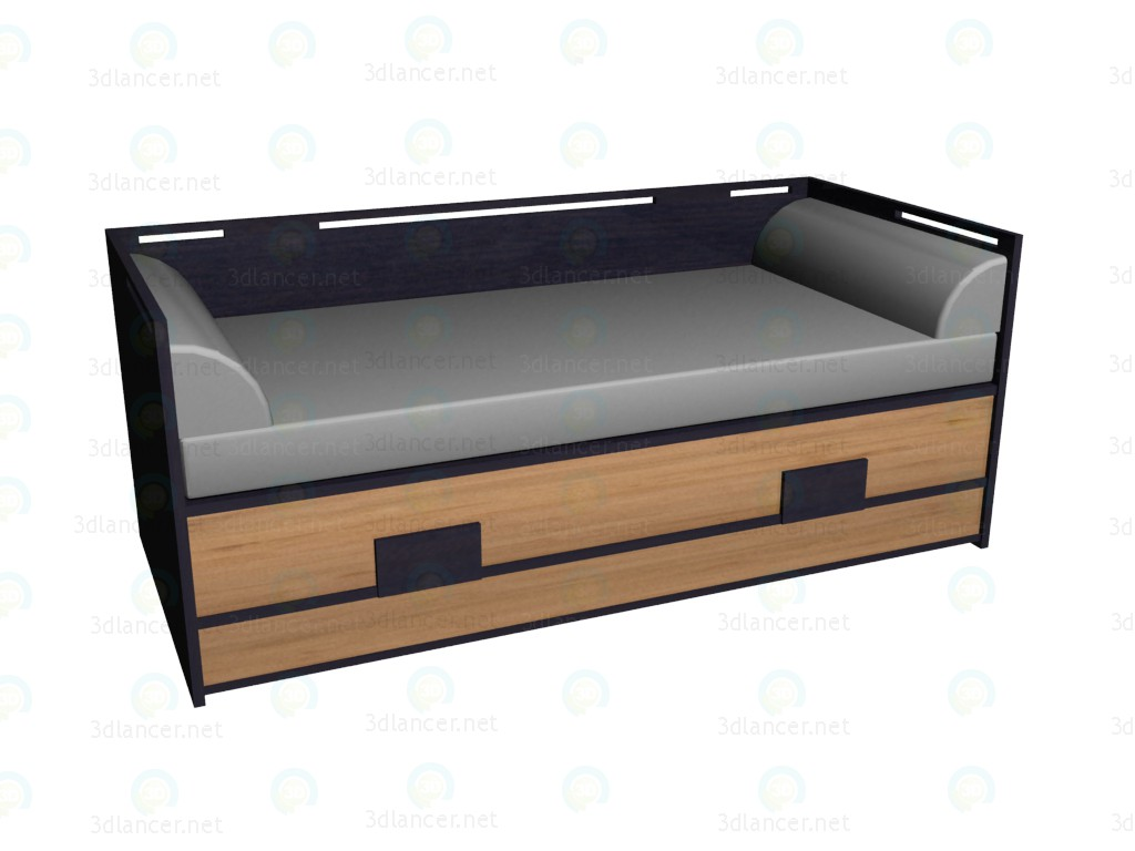 3d model sofa bed 90 x 200 vox collection kokeshi style for Sofa bed japan