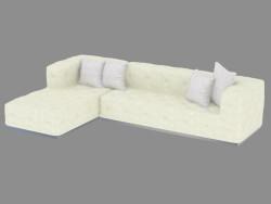 Sofá, esquina, cuatro plazas modular Diamante (330х200х67)