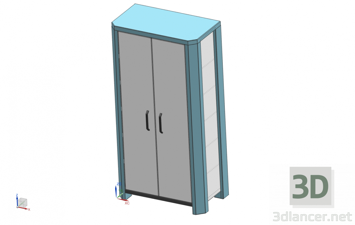 3d model Industrial cabinet - preview