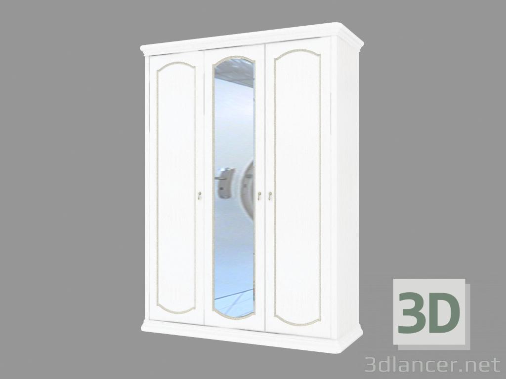 3d modella caso 3 porte con uno specchio 1695 2330 647 - Porte con specchio ...