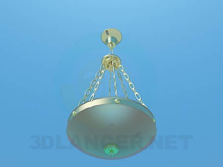 3d model Chandelier with gold-plated chains - preview