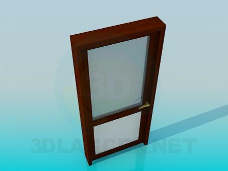 modelo 3D Puerta con vidrio esmerilado - escuchar