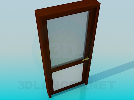3d model Door with frosted glass - preview