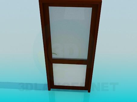 3d модель Дверь с матовым стеклом – превью