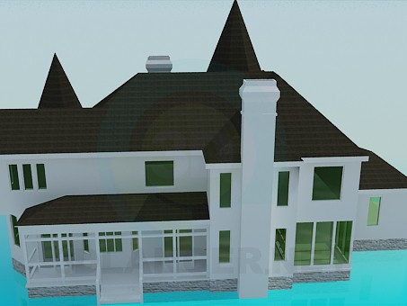 3d model Manor - preview