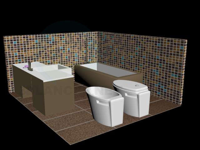 3d model bathroom in the style of japanese download for for Bathroom models images