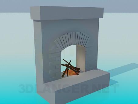 modelo 3D Chimenea - escuchar