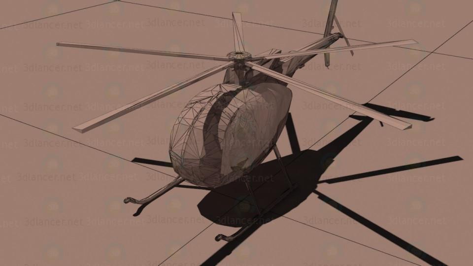 3d модель Багатоцільовий вертоліт McDonnell Douglas MD-500 Defender – превью