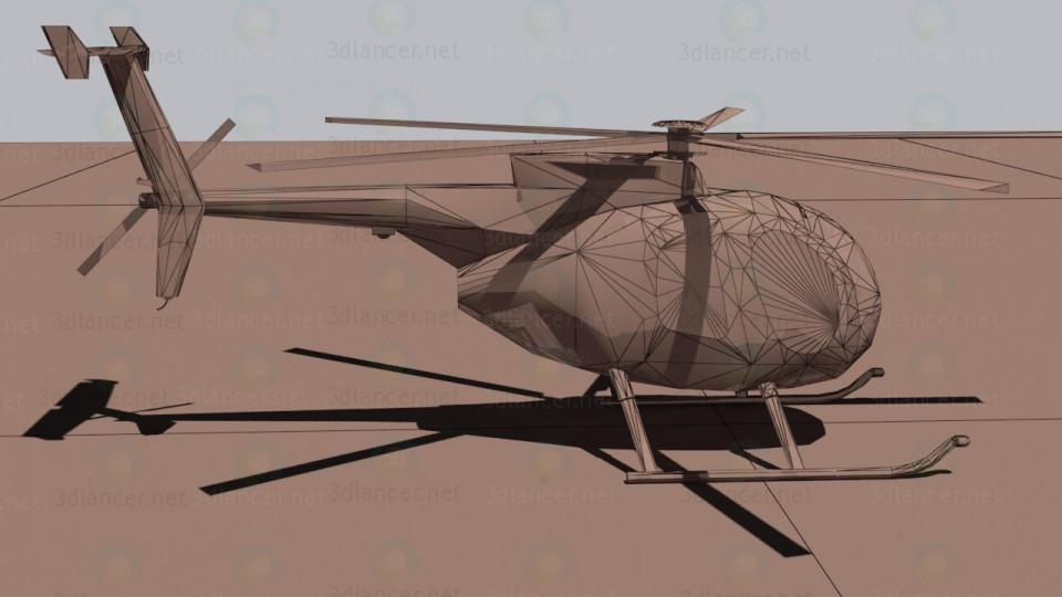 3d модель Многоцелевой вертолёт McDonnell Douglas MD-500 Defender – превью