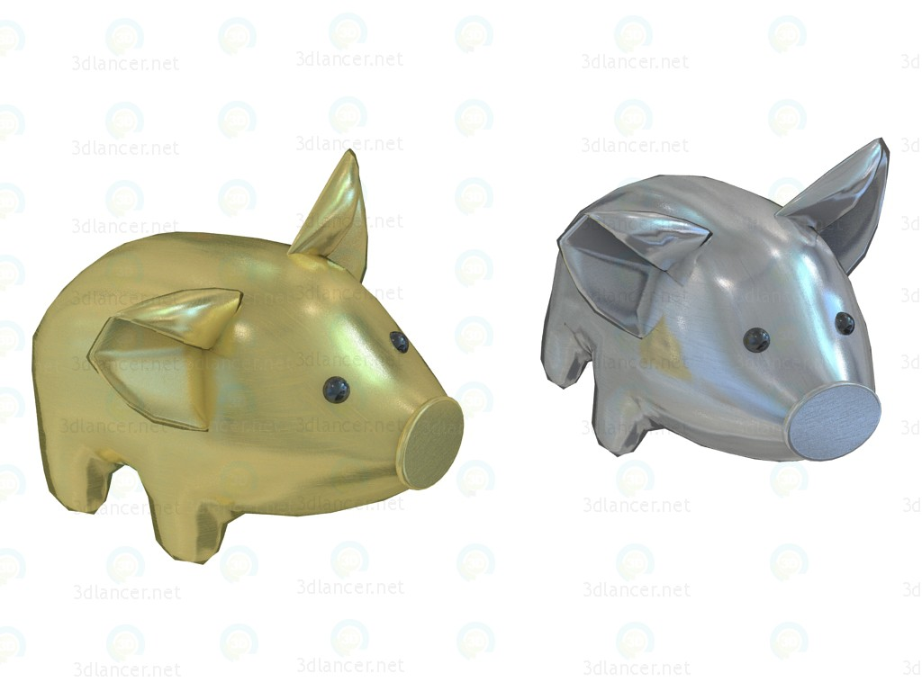 3d model Pig pillow Aquarama large - preview