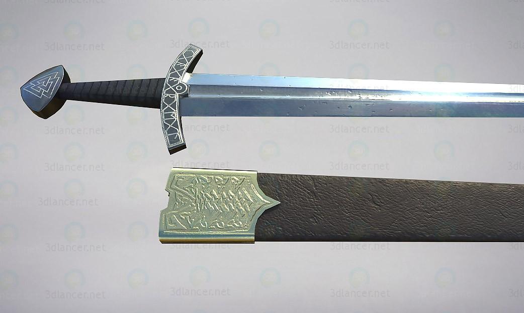 3d modeling Slavian Sword lowpoly model free download