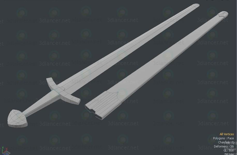 3d model Slavian Sword lowpoly - preview