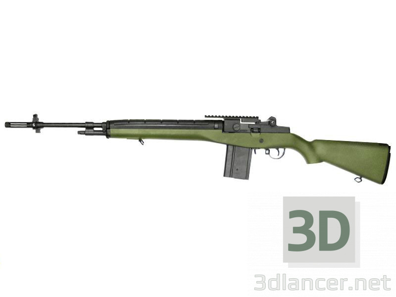 3d model Rifle M-14 - vista previa