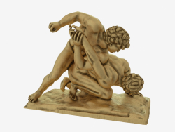 Scultura in bronzo The Wrestlers
