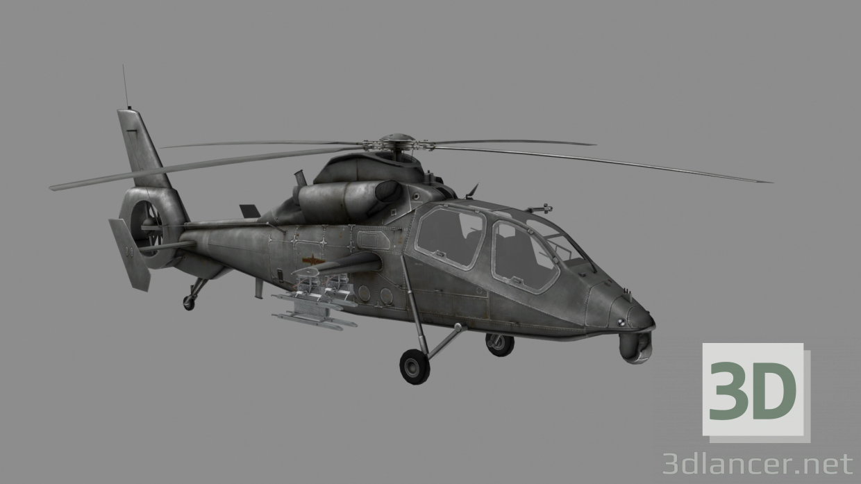 3d model WZ-19 Chinese chopper - preview