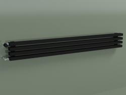 Radiatore orizzontale RETTA (4 sezioni 1500 mm 60x30, nero opaco)
