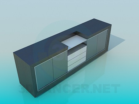 3d model Cabinet for home theater - preview