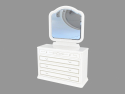 Dresser for a bedroom with a mirror (1341x888x489)