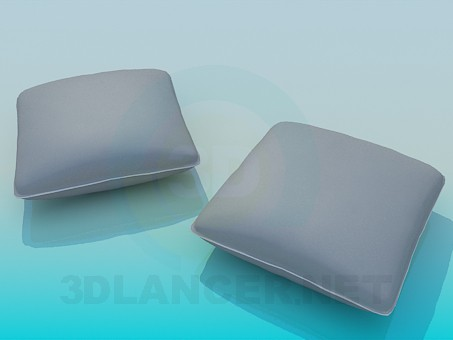 3d modeling Two pillows model free download