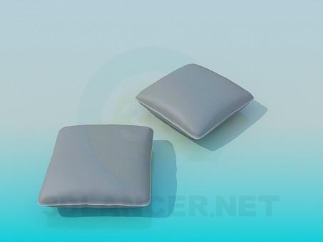 modelo 3D Dos almohadas - escuchar