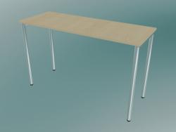 Table rectangulaire avec pieds ronds (1200x450mm)