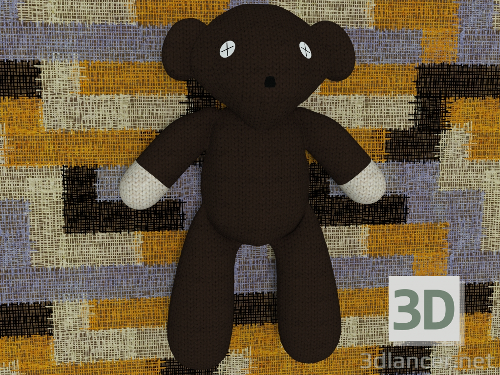 3d Toy Teddy Bear with rigs model buy - render