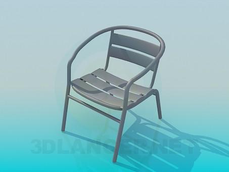 3d модель Стул на металлической основе – превью